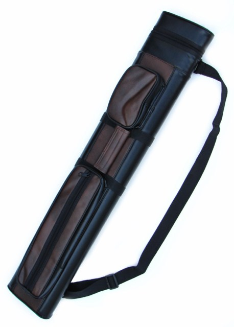 2X2 Hard Pool Cue Stick Carrying Case 2 x 2 Brown - Black