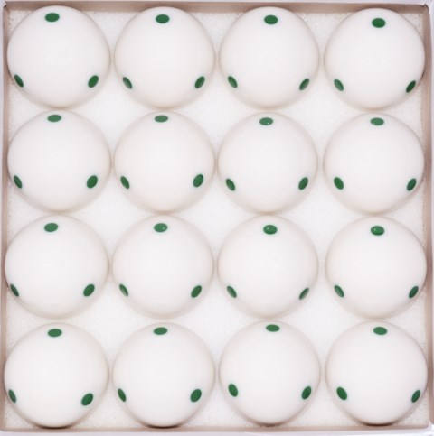 Box of 16 - 6 Green Dot - Spot Measle Pool - Billiard Training Cue Ball