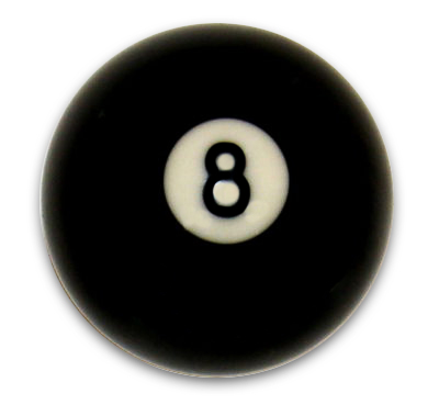 Box of 16 - Replacement # 8 Pool - Billiard Ball