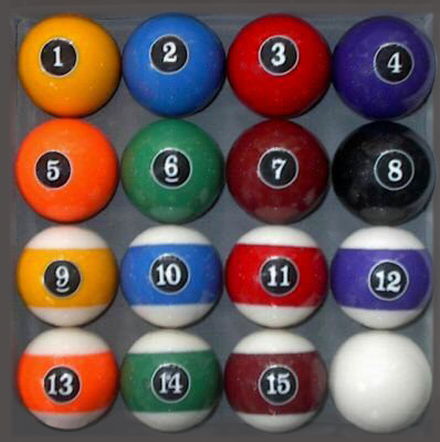 Modern Style Pool Ball Set - Billiards