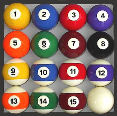 Traditional Style Pool Table / Billiard Ball Set
