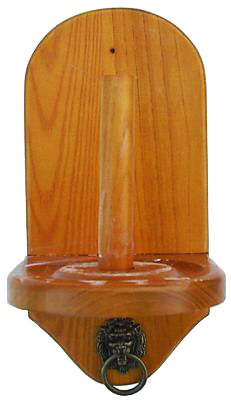 Wall Mount Pool Table Cone Chalk Holder Oak Finish Without Chalk