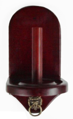 Lot of 10 - Wall Mount Pool Table Cone Chalk Holder Mahogany Finish