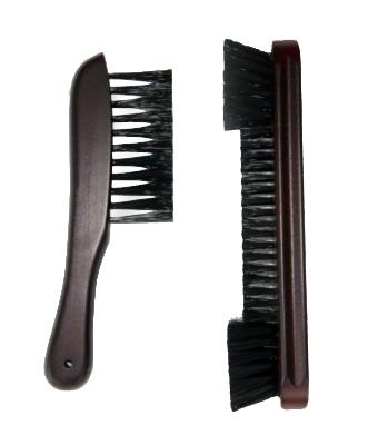 "Case of 10 -  9"" Nylon  Pool Table brush and Rail Brush Billiards Mah"