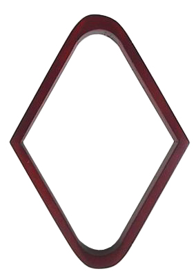 Maple Wood  9  Ball Pool Table Rack Mahogany Finish