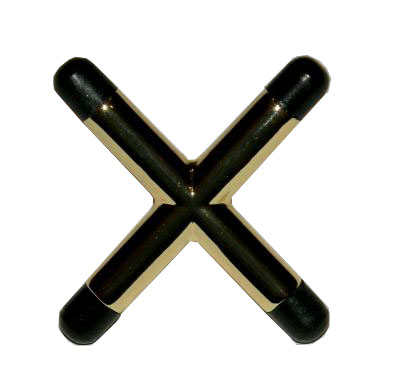 Brass Coated Cross Bridge Head