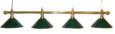 "72"" Brass Finish Pool Table Light Brass - Green"