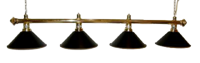 "72"" Brass Finish Billiard lamp Brass / Black"