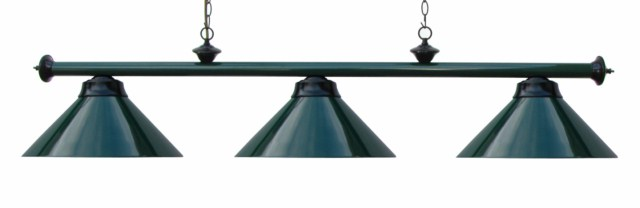 "59"" Green Black Finish Pool Table Light"