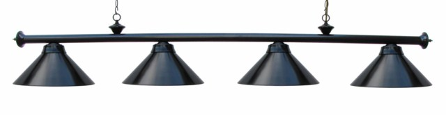 "72"" Pool Table Light Billiard lamp  Black With Metal Shades For 9' Table"