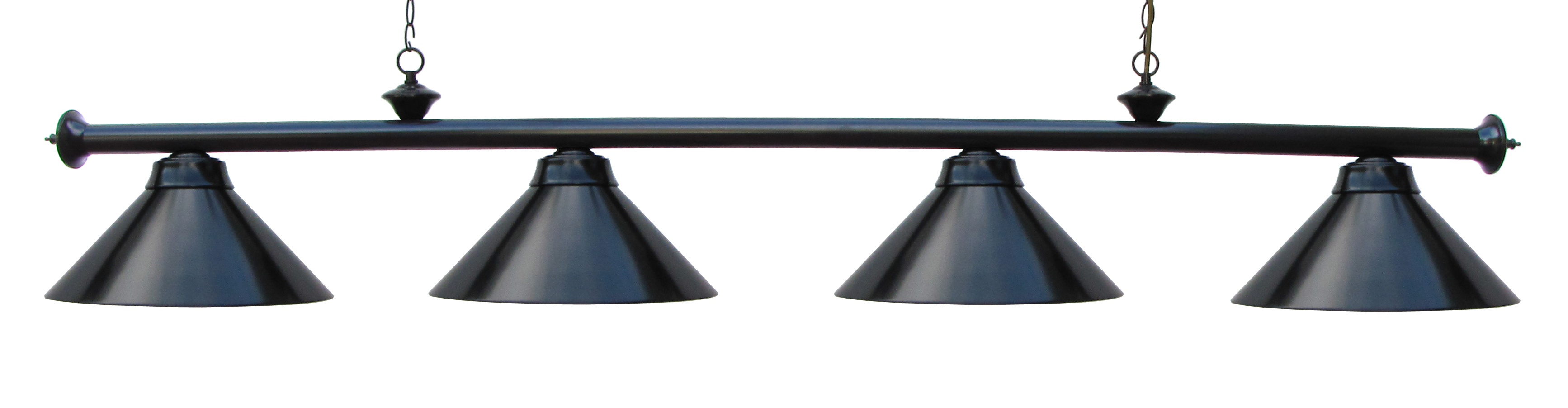 "72"" Black Finish Pool Table Light"