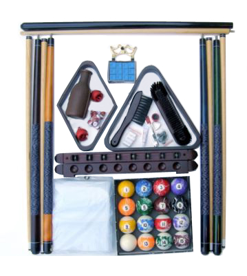 Accessory Kit W/ Marble Style Balls Mahogany Finish