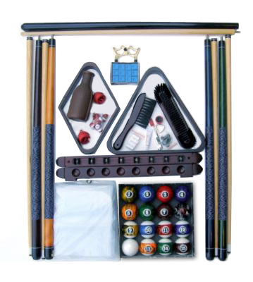 Accessory Kit With Dark Marble Style Balls Mahogany Finish