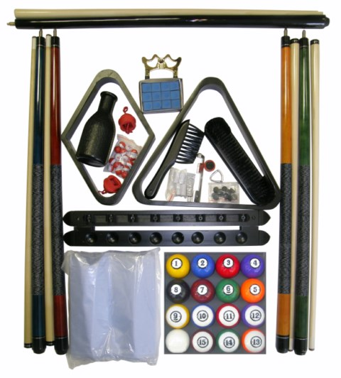 Pool Table Accessory Kit W Classic Style Balls Black Finish