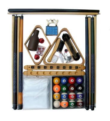 Pool Table Accessory Kit With Art Number Style Ball Set Oak Finish