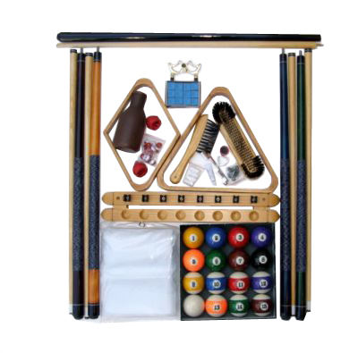 Pool Table Accessory Kit with Antique Style Balls Oak Finish
