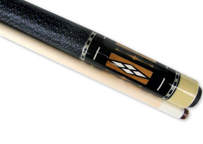 "Brown - White 58"" 2 Piece Hardwood Maple Pool Cue Billiard Stick 21 oz"
