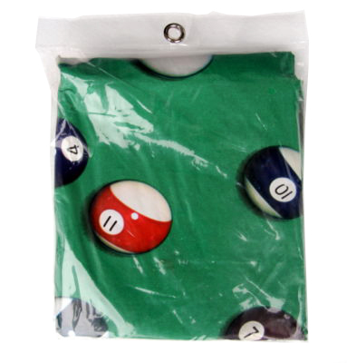 Case of 10 - Green 7 ' or 8' Pool Table  Cover  Ball Design