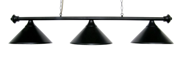 Metal Pool Table Light Billiard Lamp Black  55