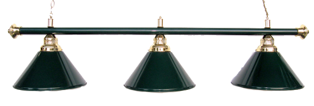 Metal Pool Table Light Billiard lamp Green Shades 61""