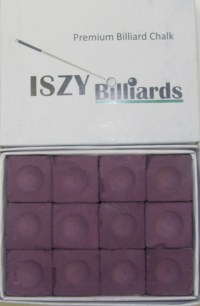 Premium Pool Table Chalk Purple Quantity 12 Pieces