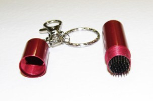 Pool Cue - Billiard Stick Tip Tool Pick w/ Key Chain Red
