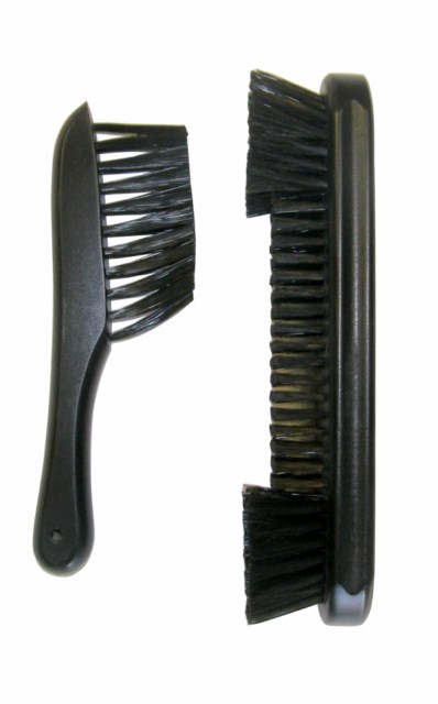 "Case of 10 -  9"" Nylon  Pool Table brush and Rail Brush Billiards Black"