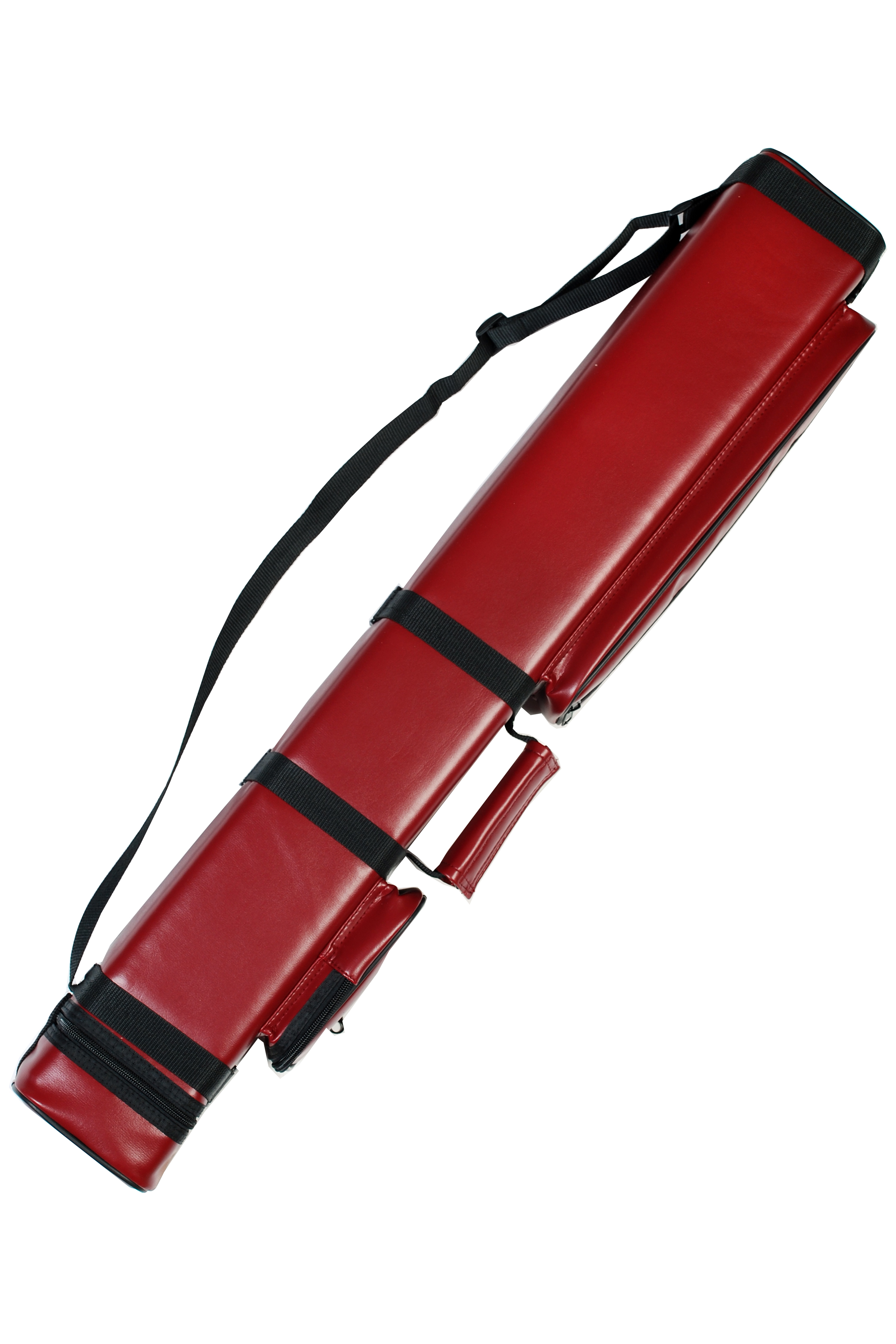 3X6 Hard Pool Cue Billiards Stick Carrying Case Dark Red 3 X 6
