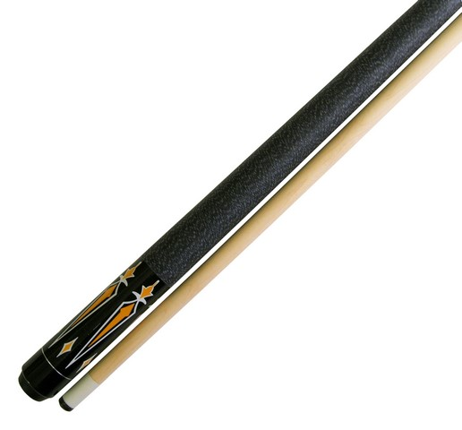 "58"" 2 Piece Hardwood Canadian Maple Pool Cue Billiard Stick 18 OZ  Orange Black"