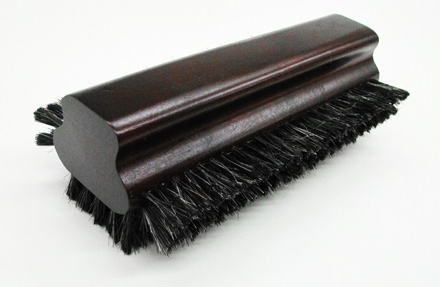 "8 1/2"" Pool Table Billiard Horsehair Brush Mahogany Finish"