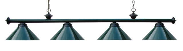 "72"" Pool Table Light Billiard lamp Green / Black With Metal Shades"