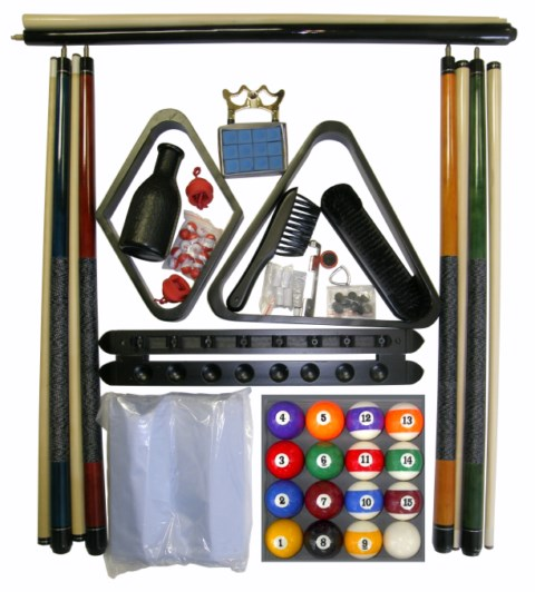 Billiard -  Pool Table Accessory Kit W Art # Style Ball Set Black Finish