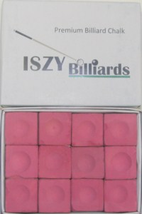 Premium Pool Table Chalk Pink Quantity 12 Pieces