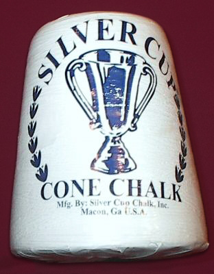 Case of 6 Silver Cup Billiard Cone Chalk Hand Talc